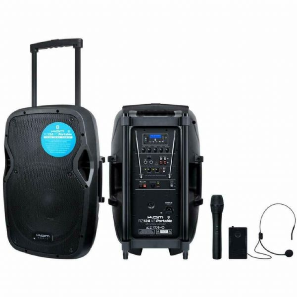 KAM V3 Portable PA with media player, wireless mic, Bluetooth - RZ12AP
